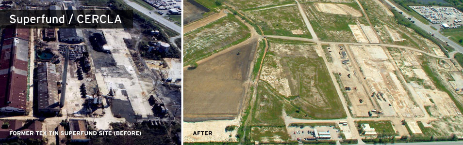 Tex Tin Superfund Site before and after remediation